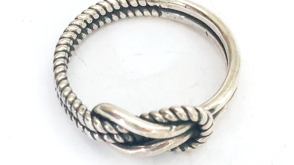 Lona Knot Rope Ring Sterling Silver