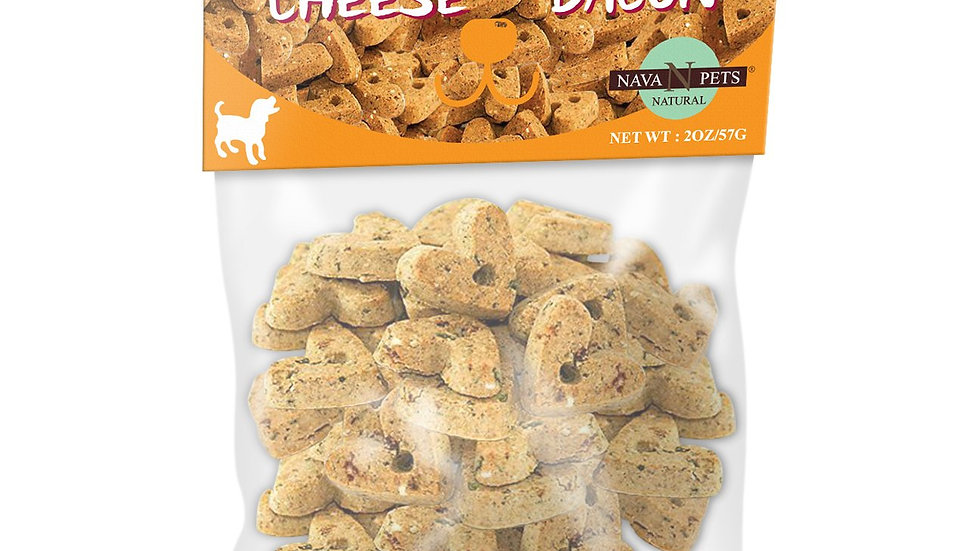 All-Natural Cheese & Bacon Grain-Free Dog Treats - 2OZ