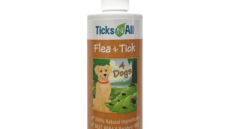 All Natural Flea & Tick 4 Dogs 8oz