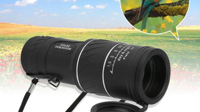 30x52 Dual Focus Zoom Optic Lens Monocular