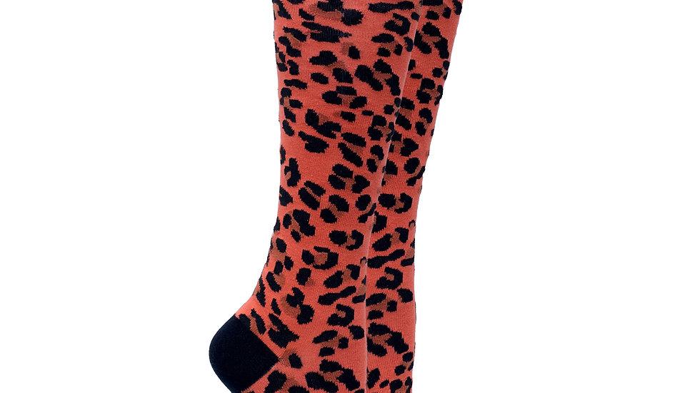 Women's Leopard Knee High Socks
