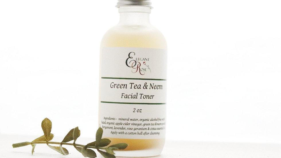 Green Tea & Neem Facial Toner -  for Oily/Acne