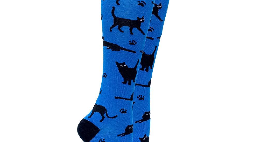 Shadow Cat Knee High Socks