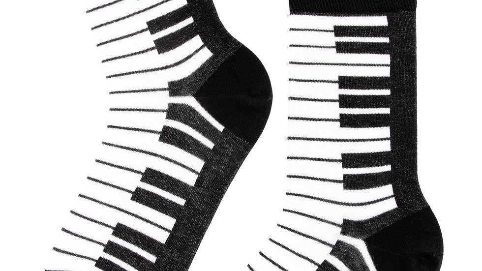 PIANO black cotton socks Sexy Musician