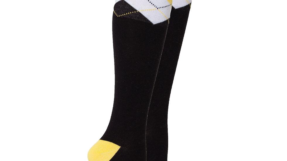 Women's Black Lemon Knee High Socks