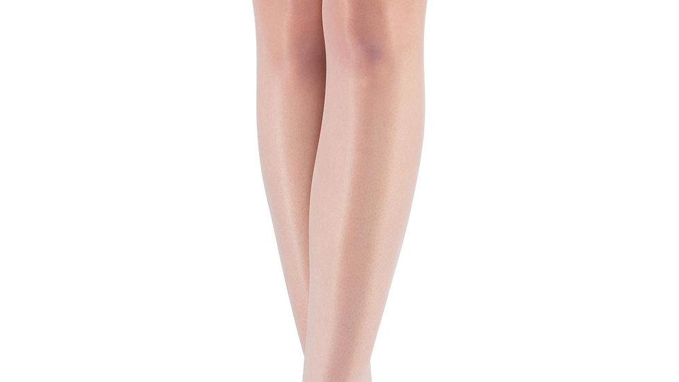 Mite Love Fit 15 Lacy Silicone-Free Garter Stocking White