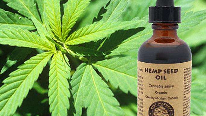 100% Pure Hemp Seed Oil (organic, cold pressed,