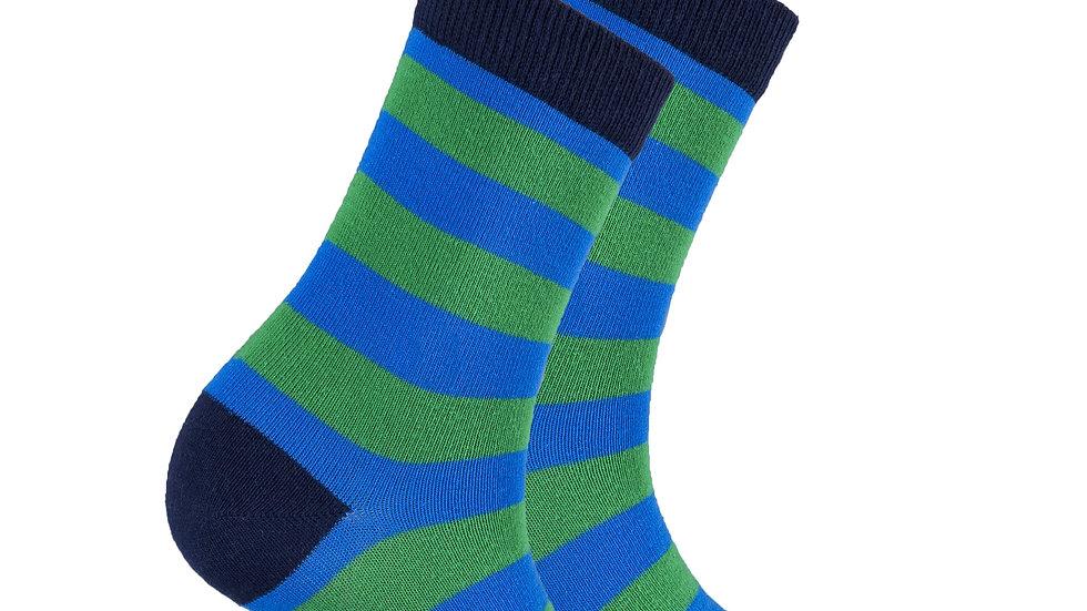 Women's Blue Grass Stripe Socks