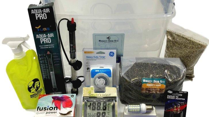 Bag Spawn Incubation & Casing (Fruiting) Kit