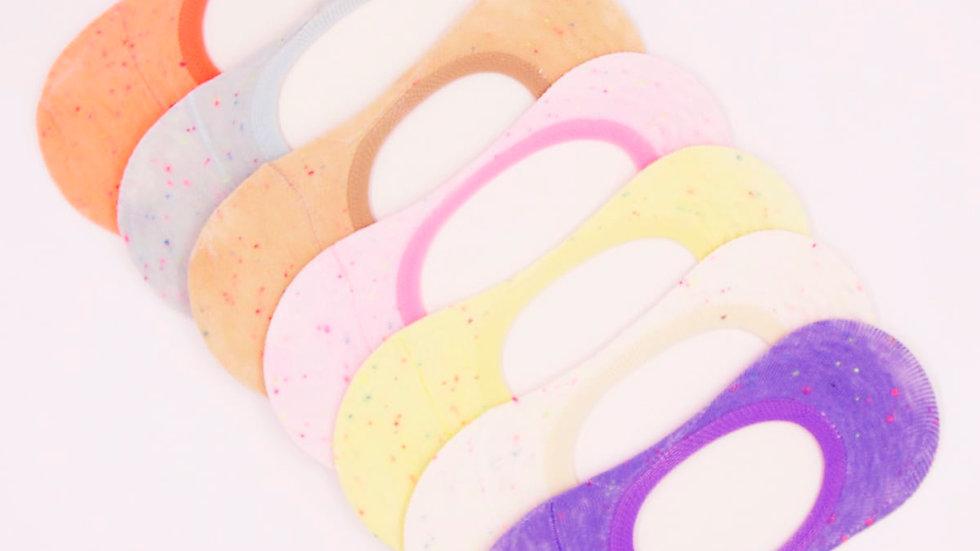 7pairs Dot Detail Invisible Socks