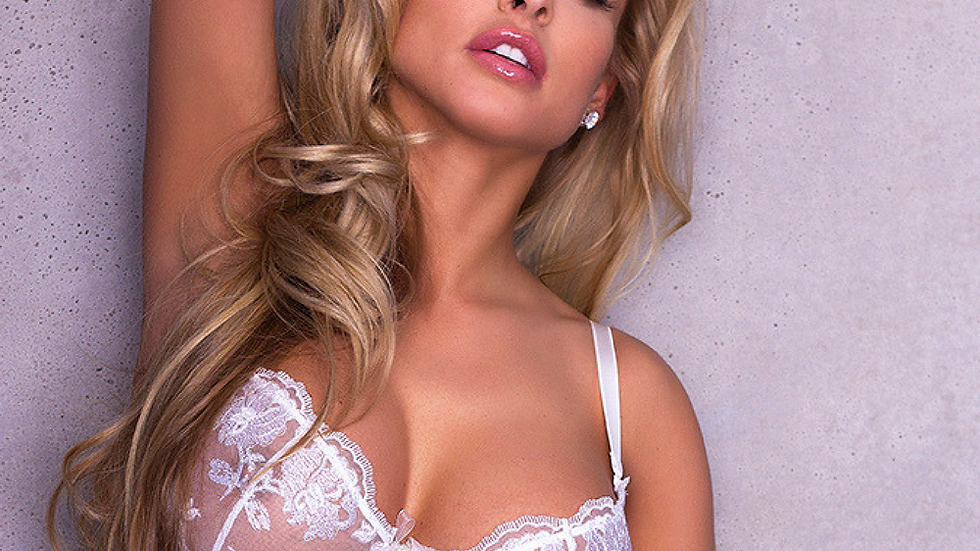 See Through Sheer Bra Full Busted Caprice Roni White