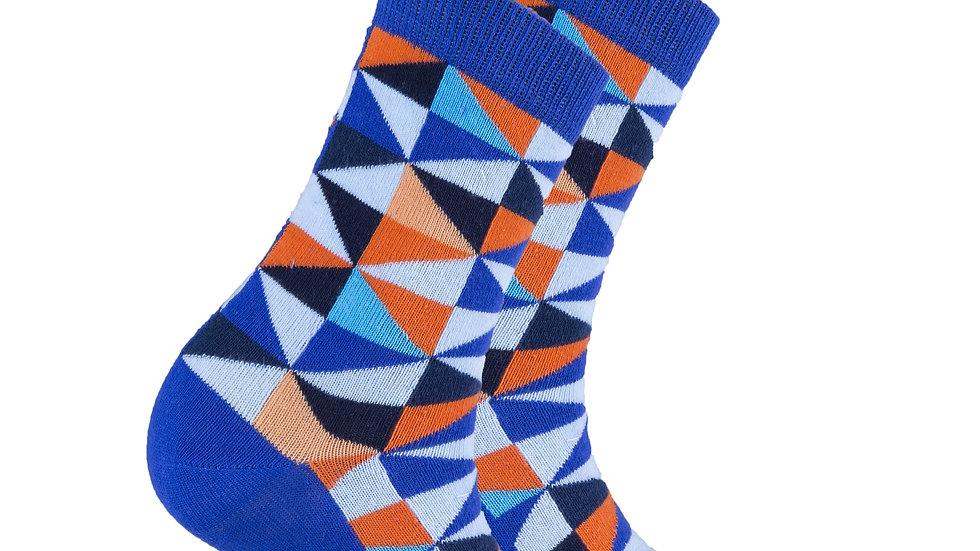 Women's Blue Triangle Socks