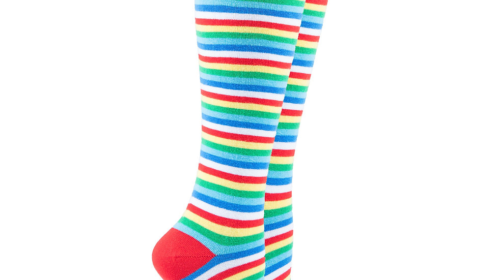Women's Cherry Stripe Knee High Socks