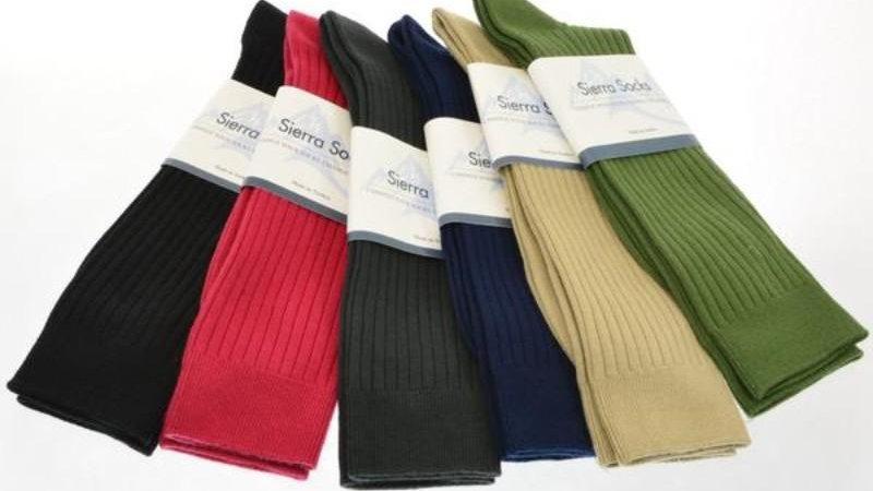 Classic Fine Ribbed Combed Cotton Crew Socks