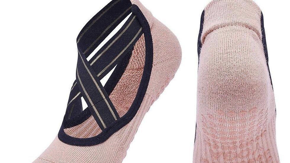 Bandage Anti-Slip Pilates Breathable Backless Barre Dance Socks