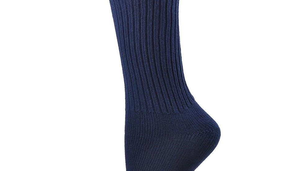 Organic Cotton Midweight Outdoor Unisex Athletic Crew Socks 3 Pair