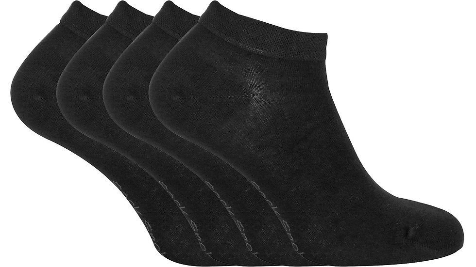 4 Pk Ladies Soft Breathable Bamboo Trainer Socks