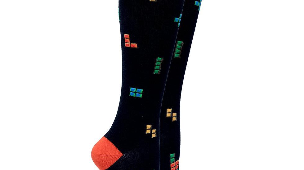 Women's Blocks Knee High Socks