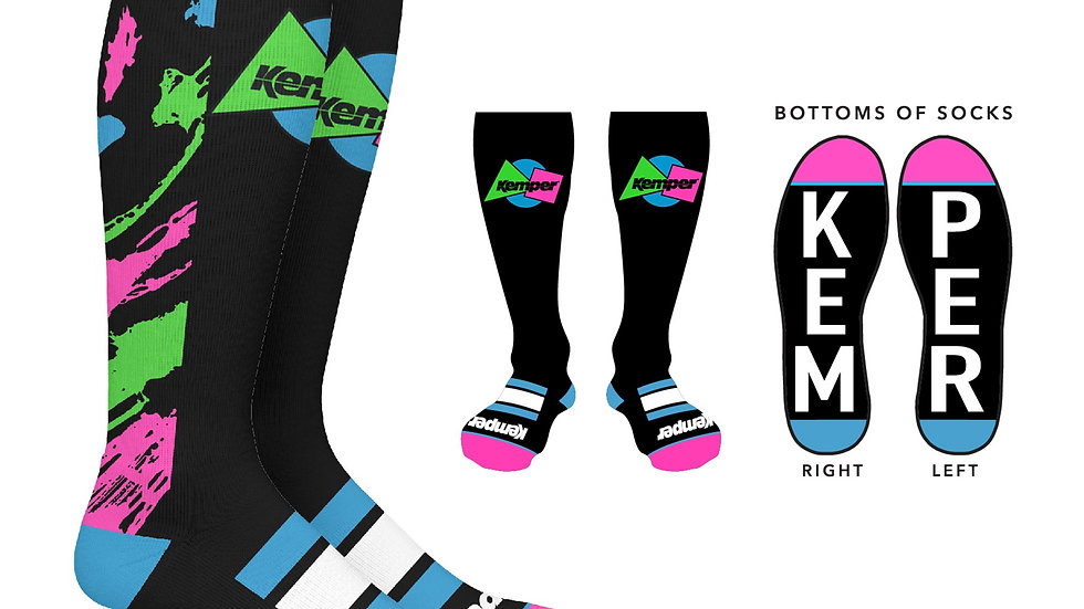 Kemper Snowboards Rampage Knee Snowboard Sock
