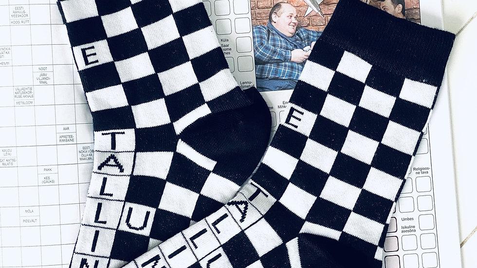 CROSSWORDS black and white socks
