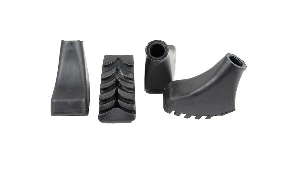 Nordic Walking Poles Rubber Tips (4-Pack)