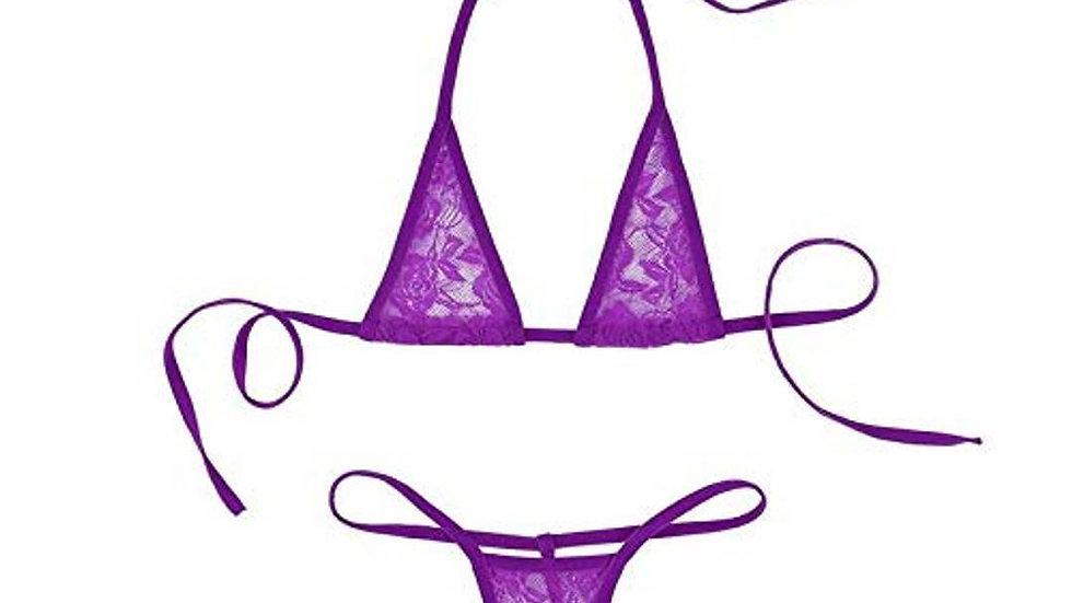 Women's Multicoloured Polycotton Swim Bikini Set