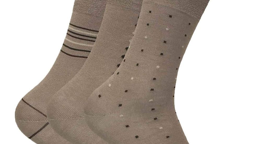 3 Pk Mes Breathable Non Elastic Bamboo Socks