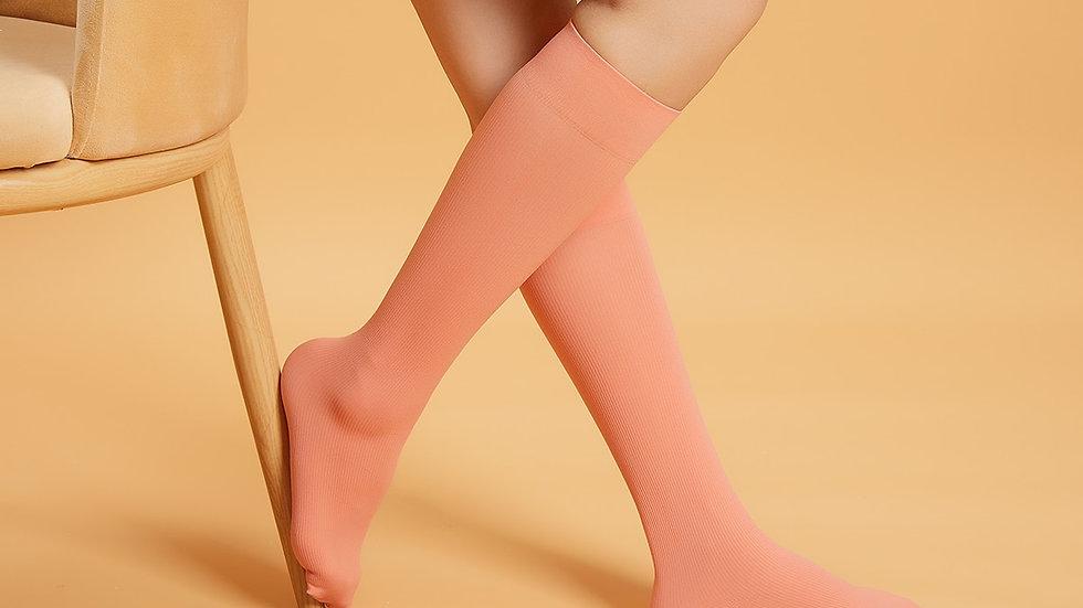 Solid Knee Socks