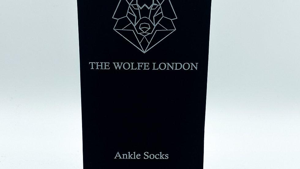 Alpha-Wolf Ladies Black Ankle Socks