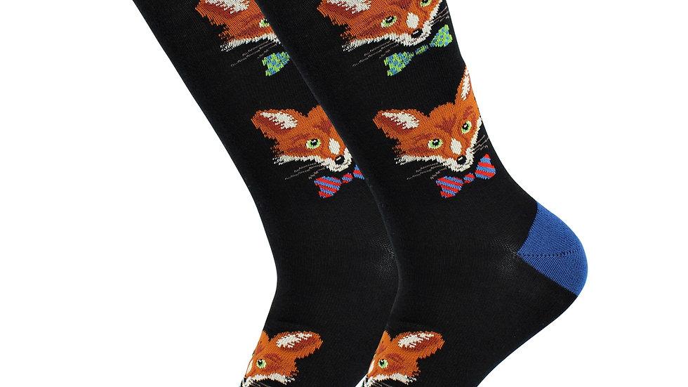 Cute Casual Designer Animal Socks - Fox - for  Women