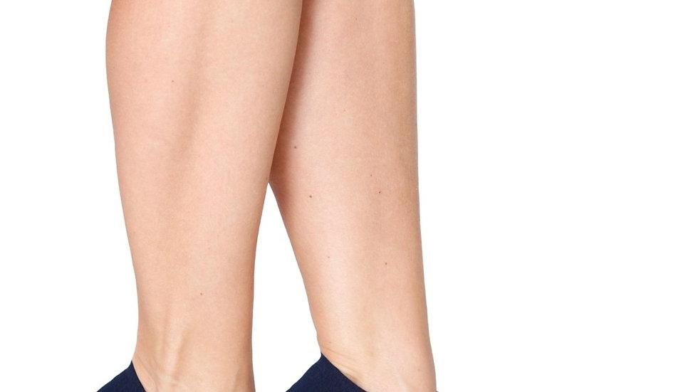 MONDI women's low-cut viscose socks, dark blue colour