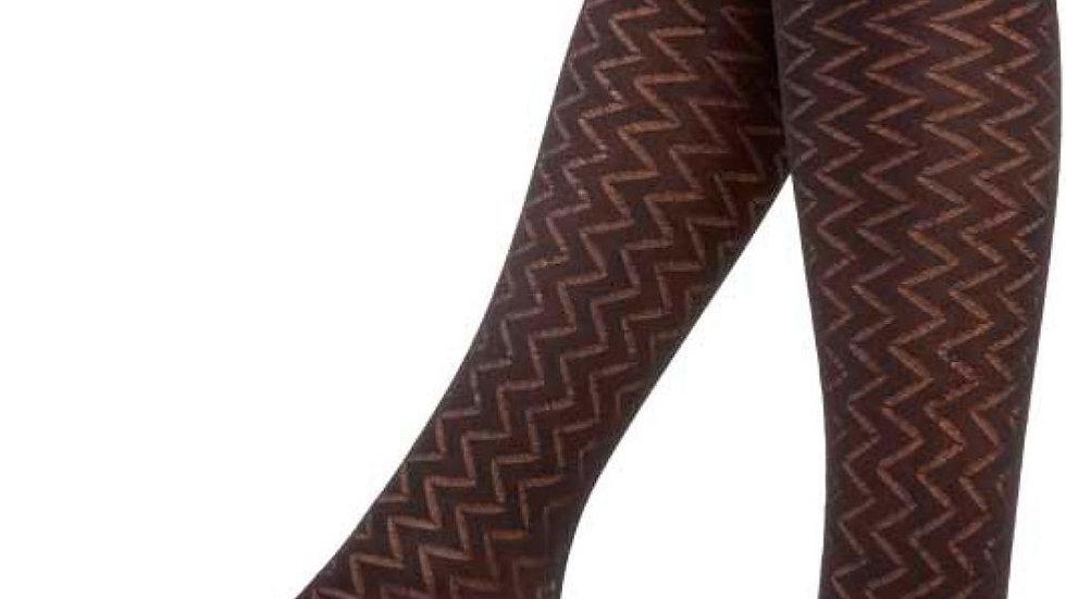 Micro Knee Socks River Pattern Black