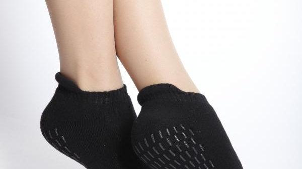 FINN womens black anti-slip socks