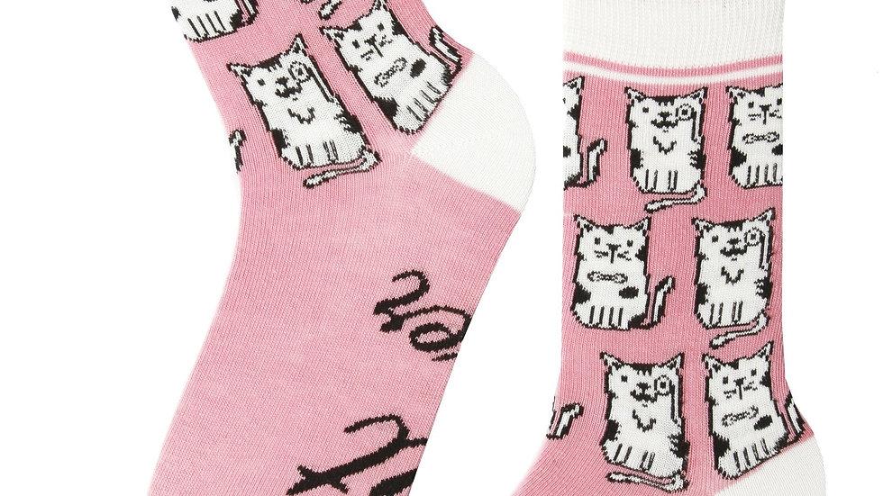 CAT LOVER women's pink socks