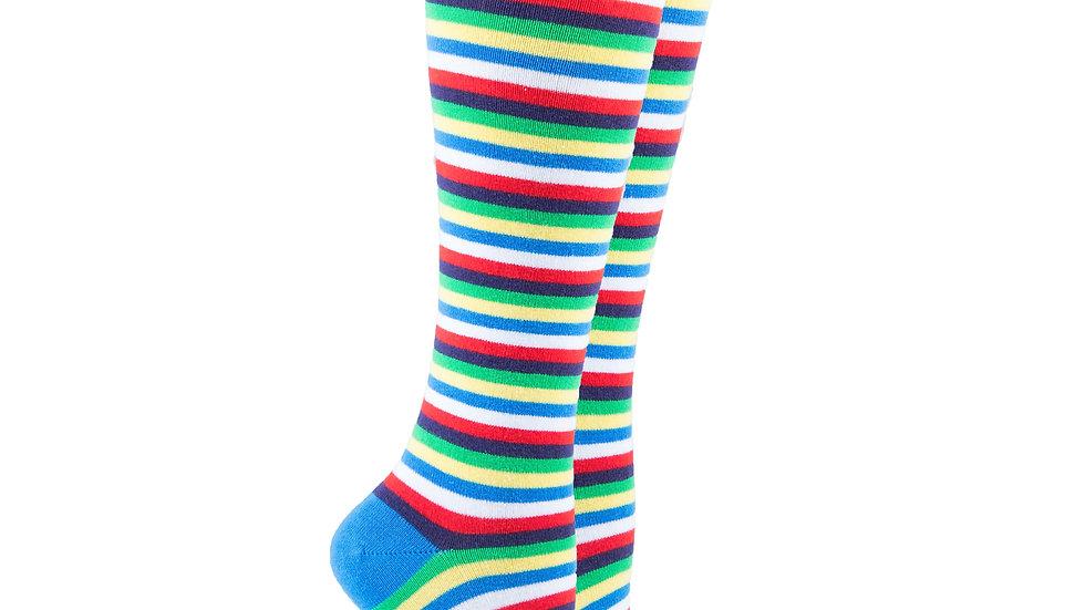 Women's Cobalt Stripe Knee High Socks