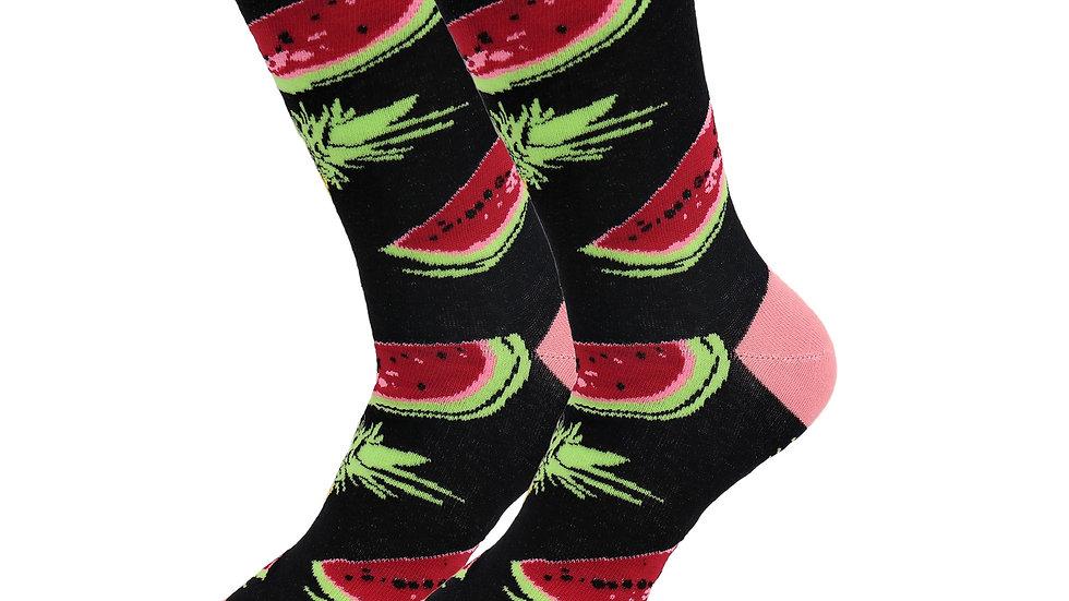 Sick Socks – Watermelon – Favorite Foods Casual Dress Socks