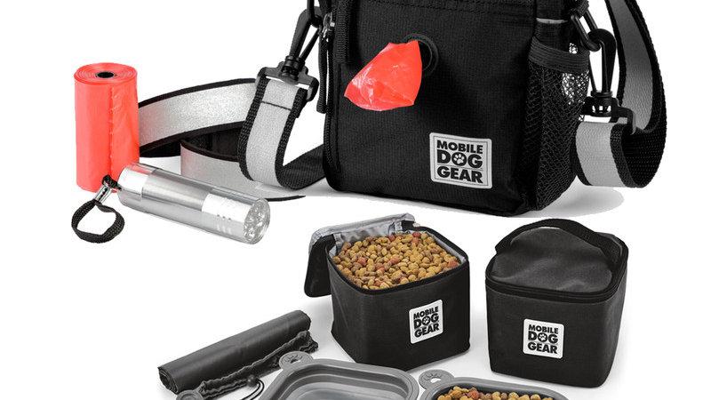 Day/Night Walking Bag and MDG Dine Away Set (Black)