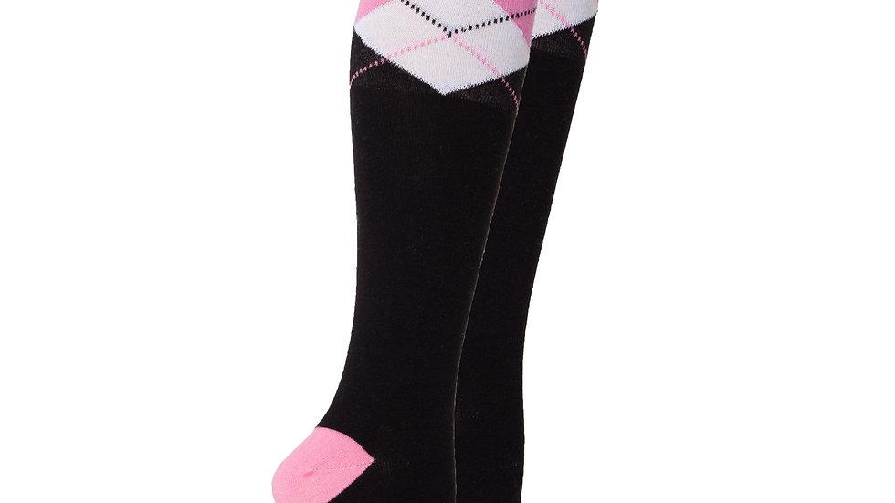 Women's Black Candy Knee High Socks