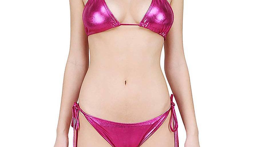 Women's Multicoloured Cotton Spandex Swim Bikini Set