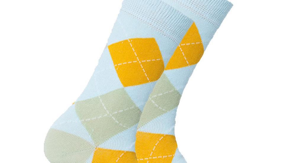 Women's Baby Lime Argyle Socks