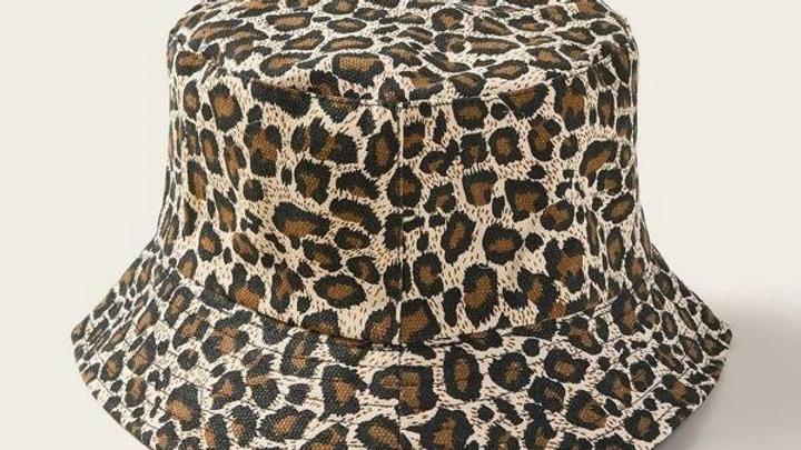 Leopard Print Bucket Hat Fisherman Hat