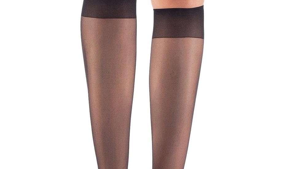 Fit 15 Knee Standard Thin Socks Black