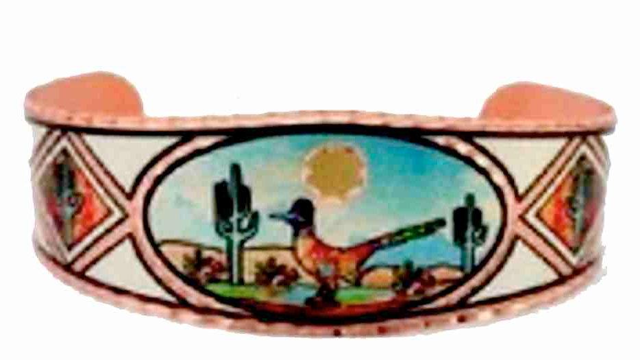 All Copper Bracelet Hand Made the Road Runner
