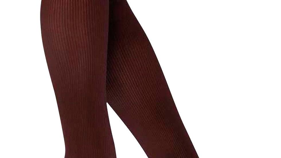 Ribbed Brown Knee Socks