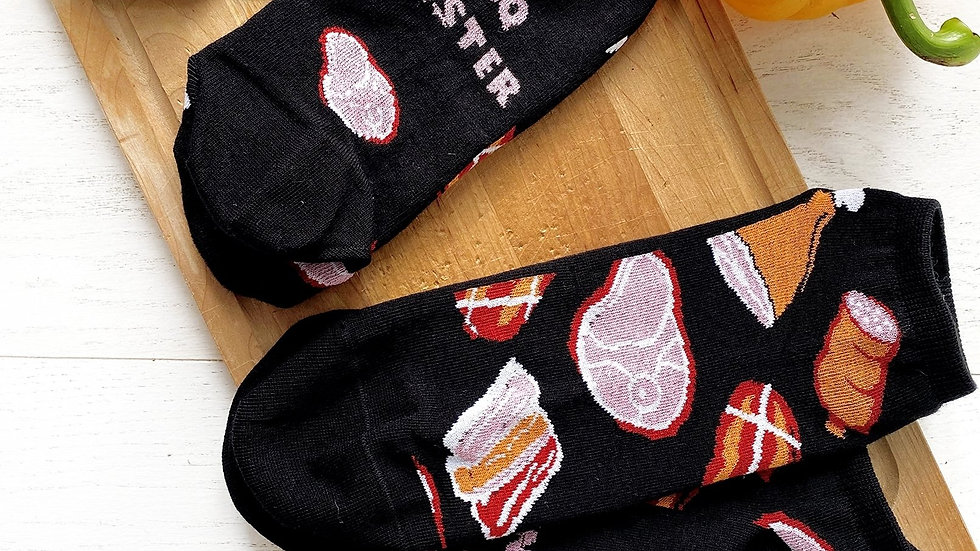 MEAT MARKET black low-cut chef socks