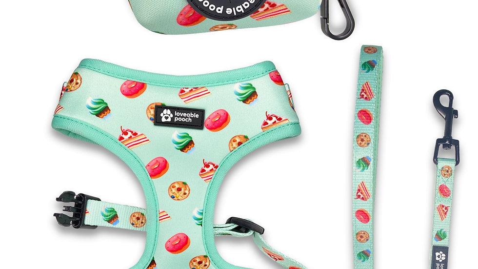 Sweet Treats Dog Harness & Leash Set