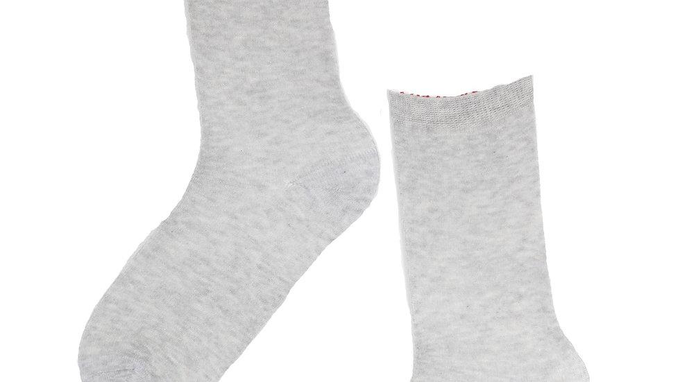 SILVER sparkling angora socks