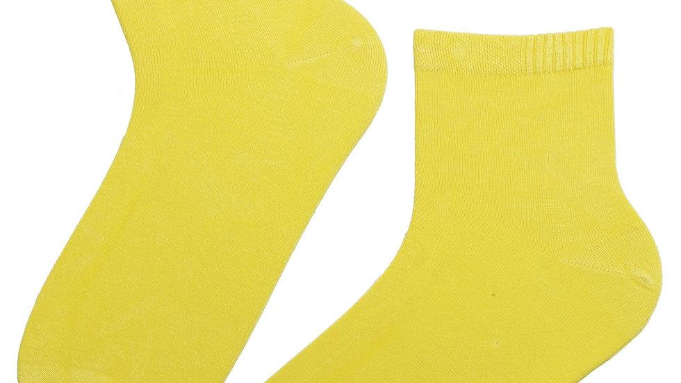 ALEXIS bright yellow viscose socks