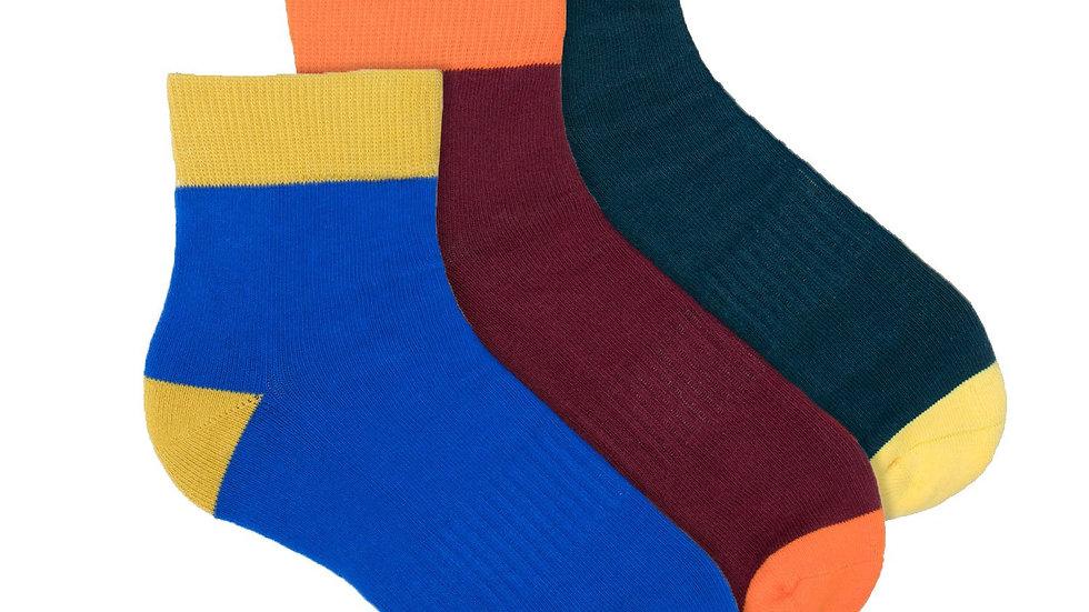 Colorblock Quarter Performance Sock - 3 Pack
