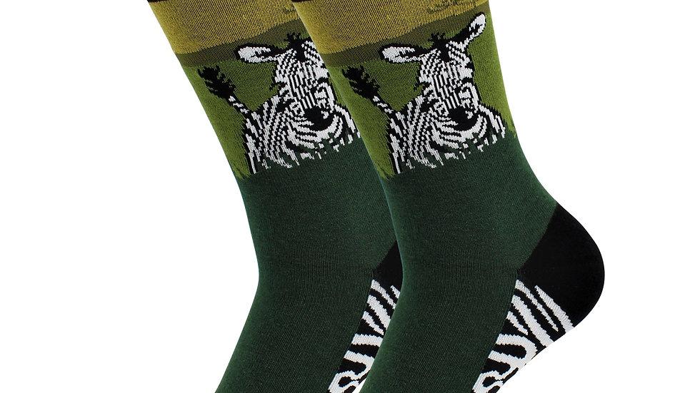 Casual Designer Trending Animal Socks - Zebra - for Men and Women